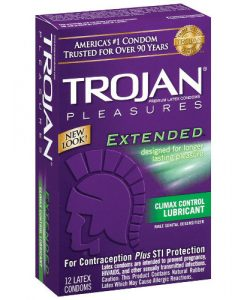 Trojan Extended Pleasure Condoms (12 pack)