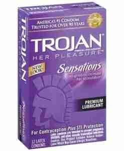 Trojan Her Pleasure Condoms (12 pack)