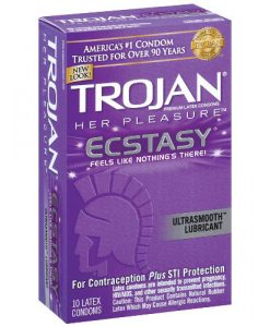 Trojan Her Pleasure Ecstasy Condoms (10 Pack)