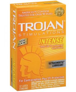 Trojan Intense Ribbed Condoms (12 pack)
