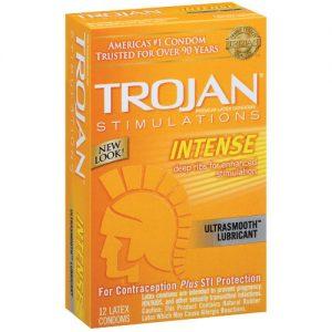 Trojan Intense Ribbed Condoms (12 pack)