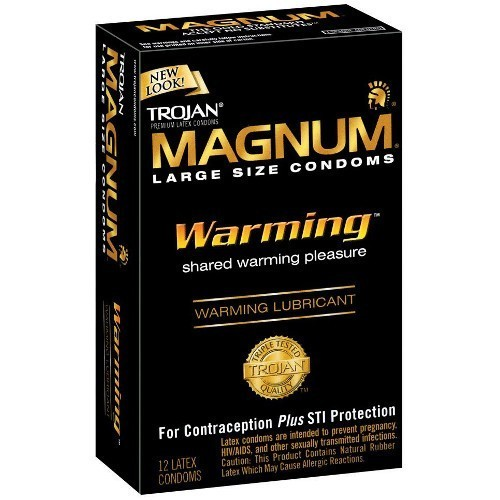 Trojan Magnum Warming Condoms (12 pack)