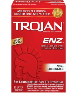 Trojan Non Lubricated Condoms (12 pack)