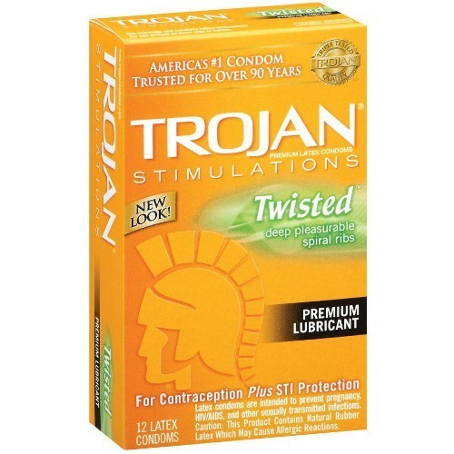 Trojan Twisted Pleasure Condoms  (12 pack)