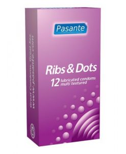 Pasante Ribs and Dots Condoms (12 Pack)