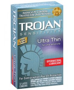 Trojan Ultra Thin Spermicidal (12 Pack)