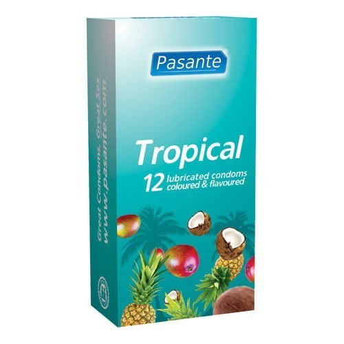 Pasante Tropical Flavours Condoms (12 Pack)