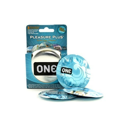 Pleasure Plus One Condoms (3 pack)