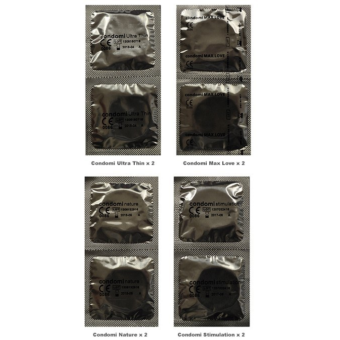 Condomi Trial Pack (8 Pack)