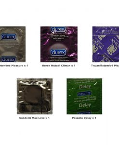 Climax Delay Condoms Trial Pack (5 Pack)