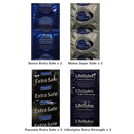 Extra Safe Condoms Trial Pack (8 Pack)