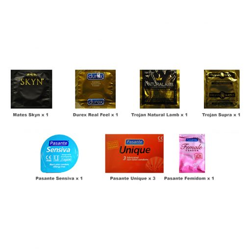 Non-Latex Condoms Trial Pack (9 Pack)