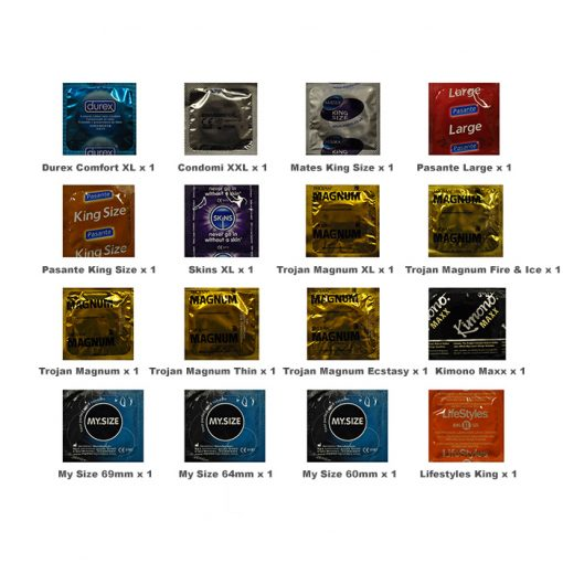 Large Size Condoms Trial Pack (16 Pack)