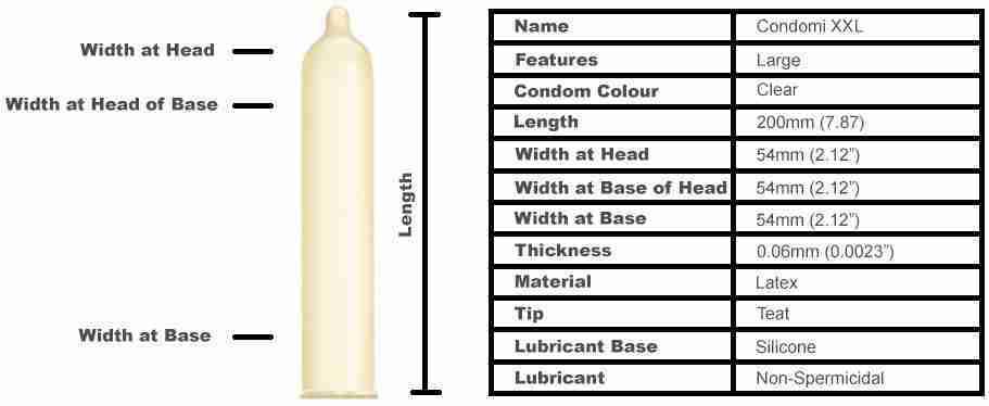 Condomi XXL Condoms (10 pack)