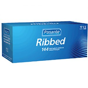 Pasante Ribbed Condoms Bulk (288 Pack)
