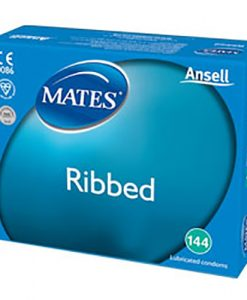Mates Ribbed Bulk Condoms (288 Pack)