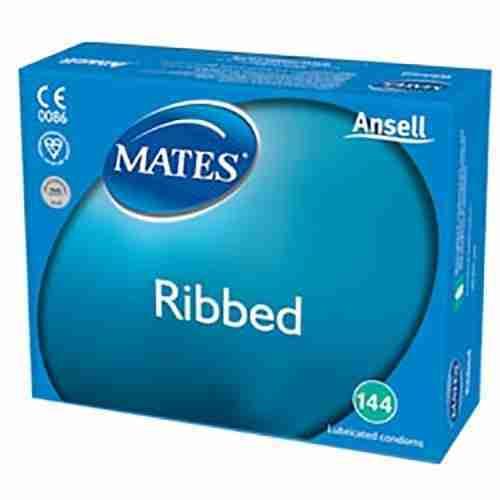 Mates Ribbed Bulk Condoms (288 Pack)