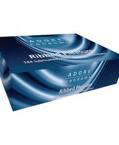 Adore Ribbed Bulk Condoms (288 Pack)
