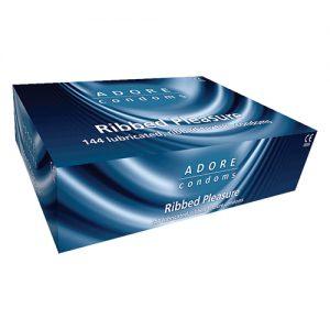 Adore Ribbed Bulk Condoms (288 Pack)