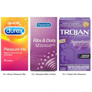 Textured Condoms Value Pack (36 Pack)