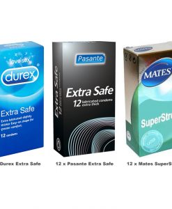 Extra Safe Condoms Value Pack (36 Pack)