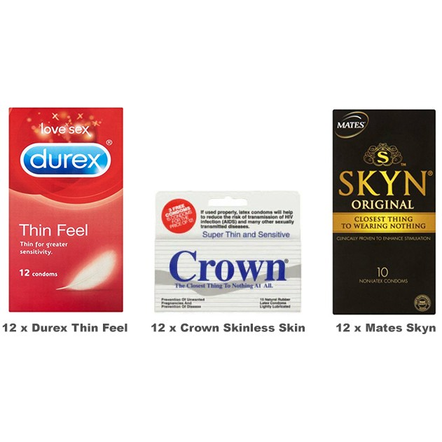 Thin Condoms Value Pack (36 Pack)