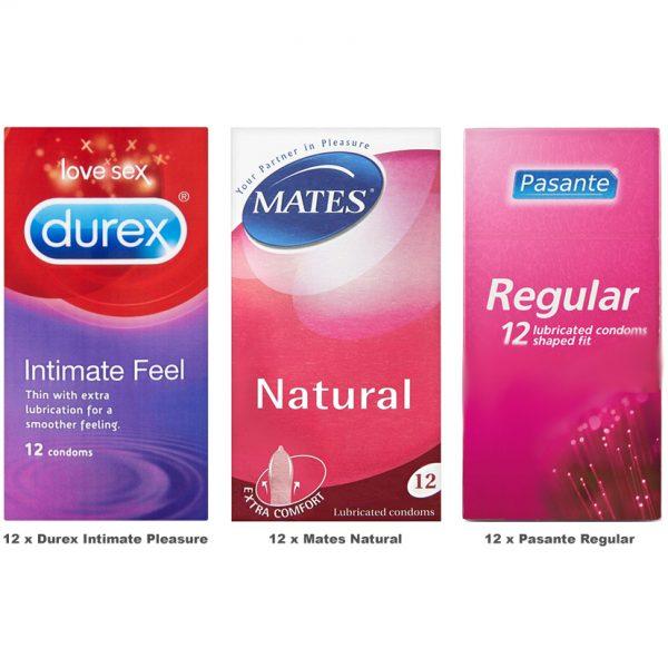 Regular Condoms Value Pack (36 Pack)