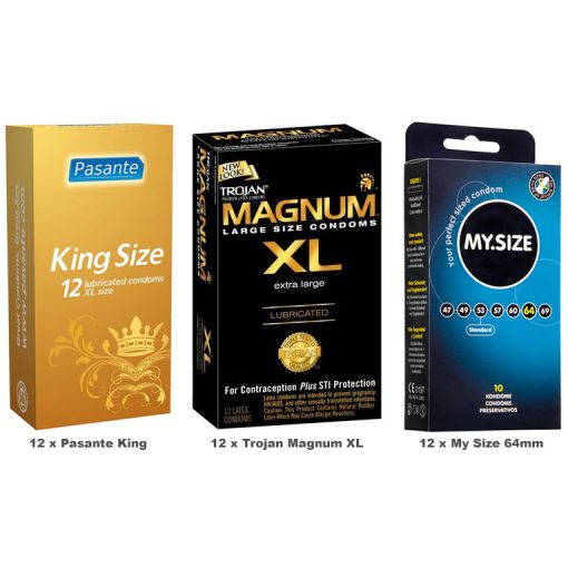 Large Size Condoms Value Pack (36 Pack)