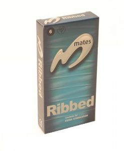 Mates Ribbed Condoms (12 pack)